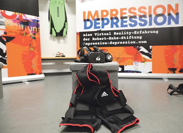 Wie fühlt sich eine Depression an? VR-Brille, Kopfhörer, Bleiweste zum Nachempfinden einer Depression